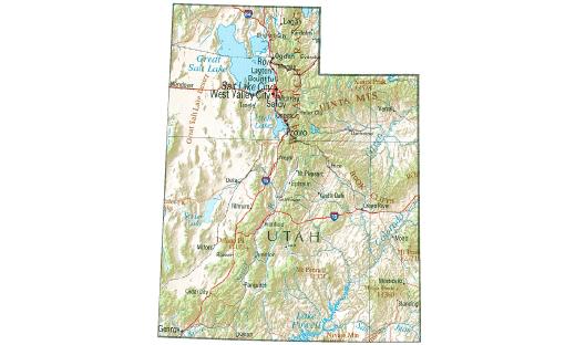 map-utah